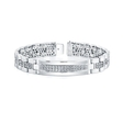 3.37ct Men's Diamond 14k White Gold Bracelet