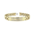 1.87ct Men's Diamond 14k Yellow Gold Bracelet