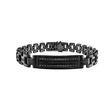 1.51ct Men's Black Sterling Silver Black Diamond Bracelet