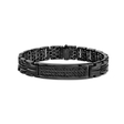 2.52ct Men's Black Sterling Silver Black Diamond Bracelet