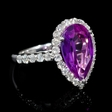 .73ct Diamond and Amethyst 14k White Gold Ring
