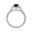 .58ct Diamond and Amethyst 14k White Gold Ring
