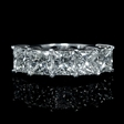 4.48ct Diamond Platinum Wedding Band Ring