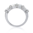 1.63ct Diamond Antique Style 18k White Gold Wedding Band Ring