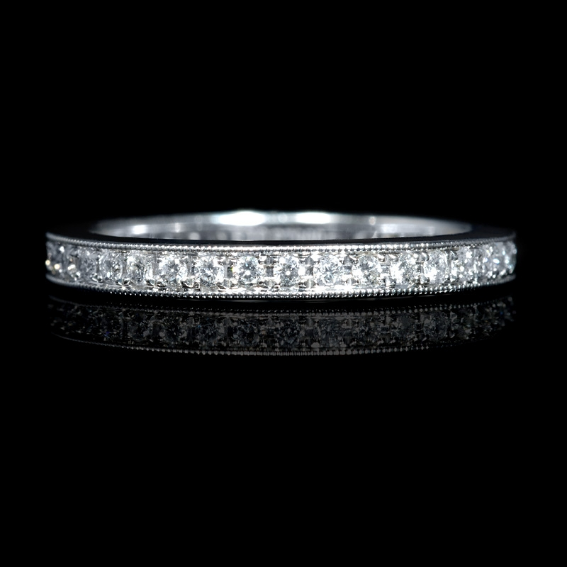 design and outstanding band bands with rou diamond prong bezel princess cuts eternity rings antique set