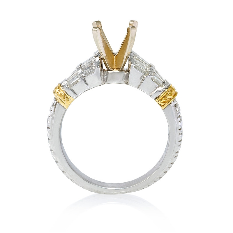 57ct antique style platinum and 18k yellow gold