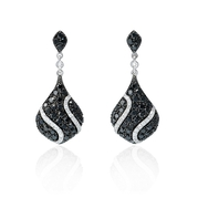 Diamond 14k White Gold Dangle Earrings