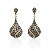 Diamond 14k Yellow Gold Dangle Earrings