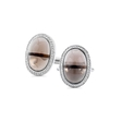 .30ct Men's Diamond and Smokey Quartz 14k White Gold Cuff Links