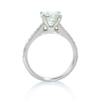 .21ct Diamond 18k White Gold Cathedral Engagement Ring Setting