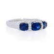 .28ct Diamond and Sapphire 18k White Gold Ring