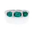 .30ct Diamond and Emerald 18k White Gold Ring