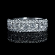 3.66ct Diamond 18k White Gold Eternity Wedding Band Ring