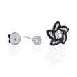.86ct Diamond 18k White Gold Earring Jackets