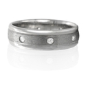 Men's Diamond Platinum Wedding Band Ring