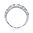 .60ct Diamond Antique Style 18k White Gold Wedding Band Ring