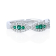 .28ct Diamond and Emerald 18k White Gold Ring