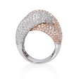 6.11ct Diamond 18k Two Tone Gold Ring