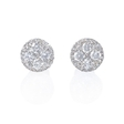 1.01ct Diamond 18k White Gold Cluster Earrings
