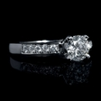 .19ct Diamond 18k White Gold Engagement Ring Setting