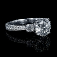 .80ct Diamond Antique Style 18k White Gold Engagement Ring Setting