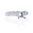 .37ct Diamond Antique Style 18k White Gold Engagement Ring Setting