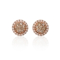 Diamond 18k Rose Gold Earrings with Jackets