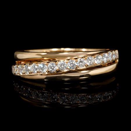 Diamond 18k Rose Gold Wedding Band Ring