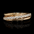 .46ct Diamond 18k Rose Gold Wedding Band Ring