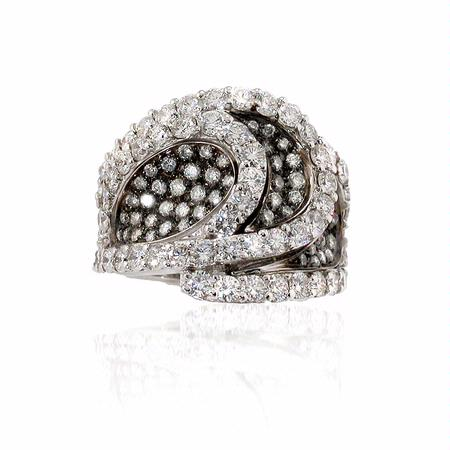 G.Verdi Diamond 18k White Gold Ring