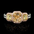 2.26ct Diamond 18k Two Tone Gold Engagement Ring