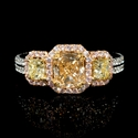 Diamond 18k Two Tone Gold Engagement Ring