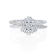 1.11ct Diamond 18k White Gold Flower Ring