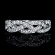 .52ct Diamond Braid 18k White Gold Wedding Band Ring