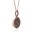 .57ct Diamond 14k Rose Gold Pendant Necklace