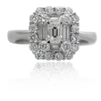 1.36ct Diamond 18k White Gold Ring