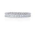 1.34ct Diamond 18k White Gold Eternity Wedding Band Ring