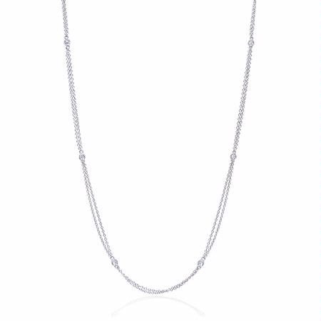 .15ct Diamonds By the Yard 14k White Gold Necklace