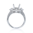 .60ct Diamond 18k White Gold Halo Split Shank Engagement Ring Setting