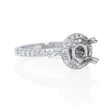 .58ct Diamond 18k White Gold Halo Engagement Ring Setting
