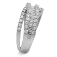 1.42ct Diamond 18k White Gold Wedding Band Ring