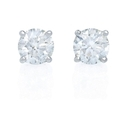 Diamond 1.00 Carat 14k White Gold Stud Earrings