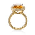 .70ct Diamond and Citrine 14k Yellow Gold Ring