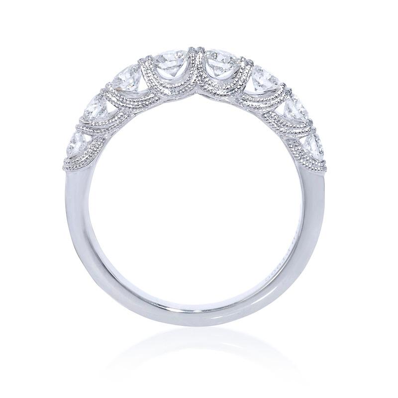 Antique Style 4 2mm Platinum Men S Wedding Band With: .81ct Diamond Antique Style Platinum Wedding Band Ring