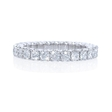 1.23ct Diamond Platinum Eternity Wedding Band Ring