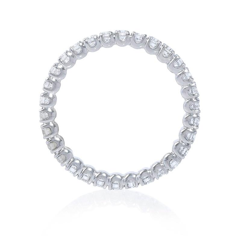 d4c90365ccb .95ct Diamond Round Brilliant Cut Platinum Eternity U Prong Wedding Band