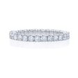 .95ct Diamond Round Brilliant Cut Platinum Eternity U Prong Wedding Band