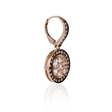 .62ct Diamond and White Quartz Antique Style 14k Rose Gold Dangle Earrings