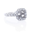 .89ct Diamond Platinum Halo Engagement Ring Setting