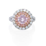 GIA Certified Diamond 18k Two Tone Engagement Ring